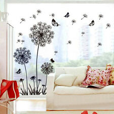 Huge Dandelion Fairy Butterfly Flower Wall Stickers Art Wall Mural Decal DIY