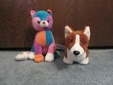 Webkinz Welsh Corgi Dog and Colorblock Kitty - WITH CODES!