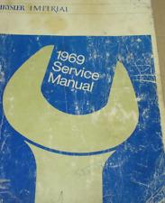 1969 Chrysler Imperial 300 New Yorker Shop Service Workshop Repair Manual OEM 69