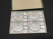 Vintage Butters Bohemia Glass Turtles Set of 4 Boxed Czechoslavakia