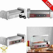 Grand Slam 12 Hot Dog Roller Grill With 5 Rollers Stainless Steel 110v 750w