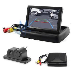 """Kit Retromarcia Monitor 4,3"""" a scomparsa Telecamera con Sensore di Parcheggio"""