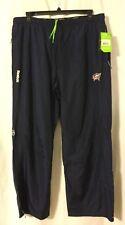 NWT Columbus Blue Jackets Navy Blue Jogging Wind Pants XXL 2XL Reebok Center Ice