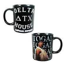 Silver Buffalo Coffee Mug Animal House Movie Toga Delta Ceramic Black 14 Ounce