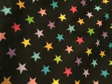 Komboze Full Standard Rainbow Stars Black Bed Skirt Dust Ruffle New