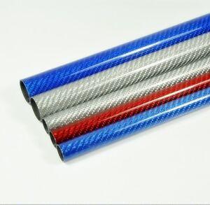 2pcs 3K Carbon Fiber Tube 14*16*500mm Glossy Surface Length 500mm 3 Colors