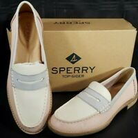 Sperry Top-Sider Seaport Tri Tone Penny Loafer Blush Ivory Grey  Women's Size 7