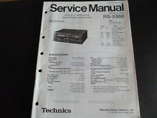 ORIGINALI service manual TECHNICS rs-x866