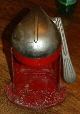 Vintage Juice O Mat Cat 462-C Red & Chrome Single Action Juicer Rival MFG Cast
