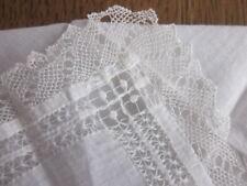 Vintage Drawnwork & Lace Edged Wedding Bride MOB MOG Handkerchief Excellent