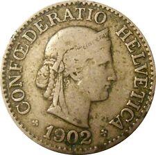 Switzerland Suisse 10 Rappen centimes 1902 KM#27 (S-15)