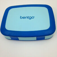 Bentgo Kids Bento Lunch Box - Blue 5 Compartments HInged Lid
