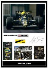 132.. AYRTON  SENNA  F1  SIGNED  A4  PHOTOGRAPH .....