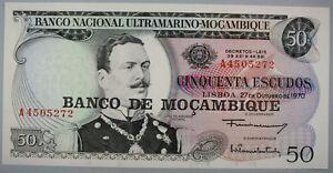 Ek // BILLET 50 escudos Mozambique Portuguaise 1970 João Azevedo Coutinho : UNC
