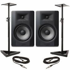 M-Audio BX8 D3 (Pair) With Stands & Cables