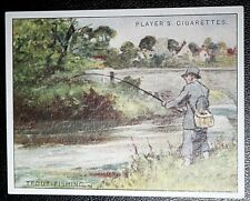 WILD TROUT FISHING    Superb Original Vintage Sporting Card