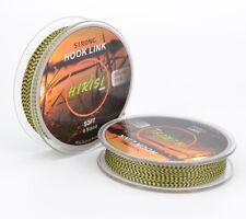 Carp Fishing Line Braided Hook Link 8 String 20m 35lb Green Black Mix Color 2pcs
