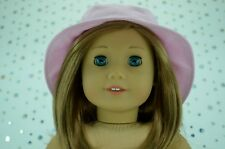 """Dolls Clothes For 18"""" American Girl~Our Generation~Journey PINK DRILL SUN HAT"""