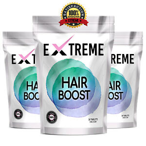 EXTREME HAIR BOOST - HAIR VITAMINS FOR HAIR GROWTH AND HEALTHY SHINY HAIR