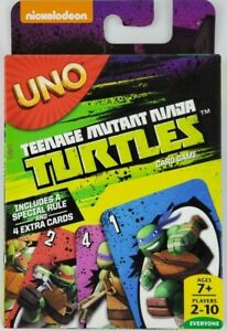 Teenage Mutant Ninja Turtles Uno Card Game 2014 With Special Rule 4 Extra Cards