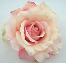 "5"" Light Pink & Cream Rose Flower Combo Hair Clip / Brooch Pin,Bridal,Dance,Prom"