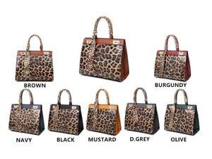 Women's Handbag Leopard Print Cross Body Designer Ladies Tote Large Shoulder Bag