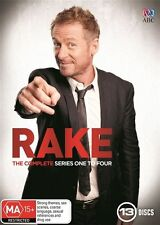 Rake : the complete season Series 1, 2, 3 & 4 DVD Box Set R4 New 13-Disc Set
