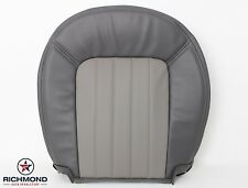 2002 2003 Mercury Mountaineer -Driver Side Bottom Leather Seat Cover 2-Tone Gray