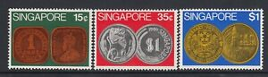 Singapore - 1972 Coins - SG 171-173 - Lightly mounted mint
