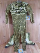 OPERATION RAPID STRIKE Costume Youth 6-8 Padded Bodysuit Boots Green Camo
