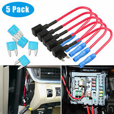 5 Pack 12V Car Add-A-Circuit Fuse Tap Adapter Mini ATM APM Blade Fuse Holder New