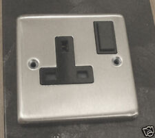13amp single switched soc outlet satin stainles SSO131S