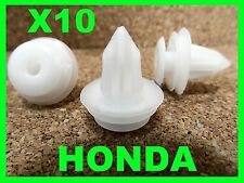 10 HONDA door card trim board fascia panel lining fixing clips fastener