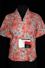 Rare Deadstock Never Worn 1960'S Cotton Poly Floral Blouse Size 34-36