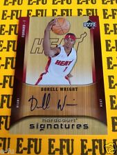 2005-06 UD Hardcourt Signatures DORELL WRIGHT Autograph # HS-DO Certified Auto