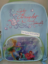 SAC A DOS CARTABLE FEE CLOCHETTE LIGHT BLEU VERT DISNEY NEUF