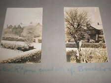 2 Old amateur photographs Athol Road Bramhall Stockport c1930s Ref 5abc8