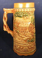 """Musical (How Dry I Am) Beer Stein no lid, made in Japan 7 3/4"""" tall"""