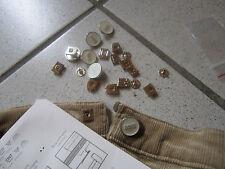 (1,06 € / Stück)   5 Stück Hosenhaken 13 mm Farbe: Silber / Weiß     (hohaken 1)