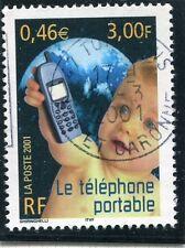 TIMBRE FRANCE OBLITERE N° 3374 LE SIECLE AU FIL DU TEMPS / LE TELEPHONE PORTABLE