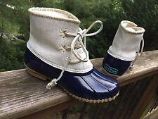 Jack Rogers Women's CHLOE Duck Rain Boots Midnight SZ 7M NIB