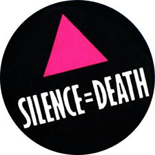 IMAN/MAGNET SILENCE=DEATH . activismo gay project act up action life ignorance