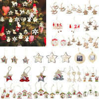 Christmas Wooden Pendant Christmas Tree Decorations Xmas Hanging Ornaments Decor