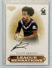 2019 Elite Felise Kaufusi (Storm) League Sensations Signature NRL Card # 10/90