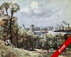 GREENWICH PARK LONDON OLD ENGLAND ENGLISH BRITISH ART REAL CANVAS PAINTING PRINT