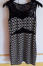 Abito TUBINO/Sheath Dress Zuiki tg UNICA/ONE Size Giro Manica Bianco Nero
