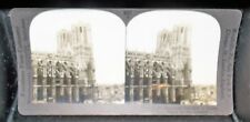 Antique Wwi Keystone Stereoview Cathedral Of Reims Ruined By Germans France