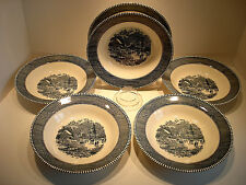 """Currier & Ives Early Winter 8 1/2"""" Bowl set of six"""