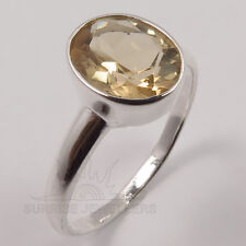 Choose Any Size Fabulous Ring Genuine CITRINE Gems 925 Sterling Silver FINE EDH