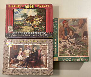Tuco vintage lot of 3  Picture Jigsaw Puzzles - See Pictures!